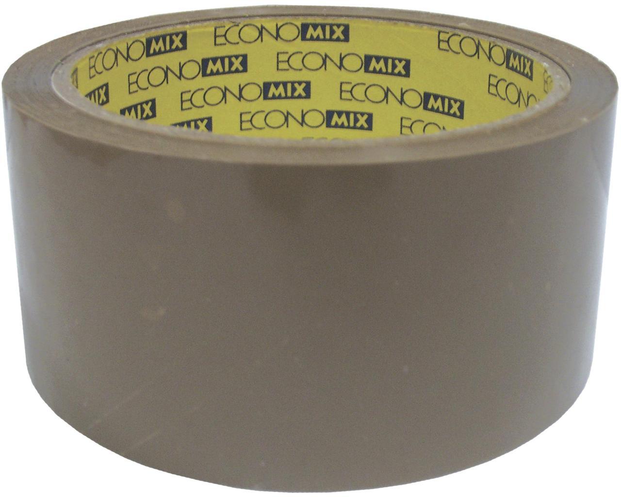 Лента клейкая упаковочная 48*66 коричневая(E40808)