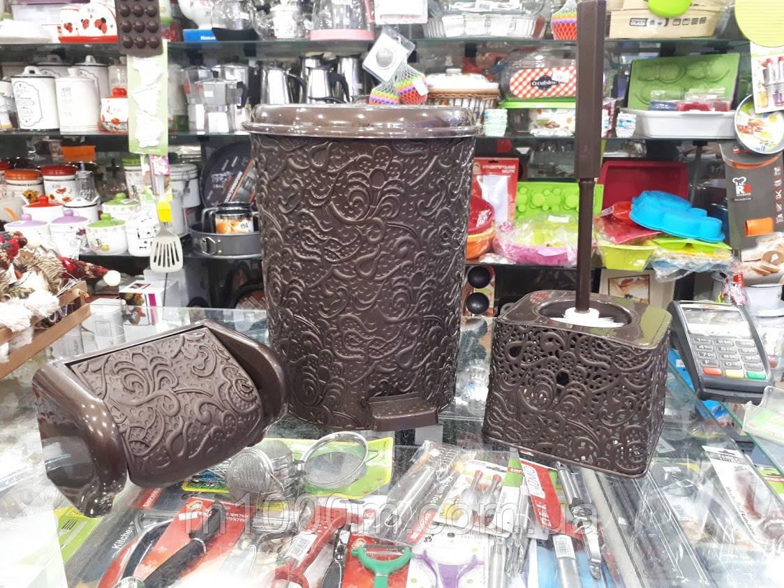 Набор для туалета АЖУР 3пр  Elif 521 цвет в ассортименте: продажа, цена в  Черновцах  мусорные ведра от