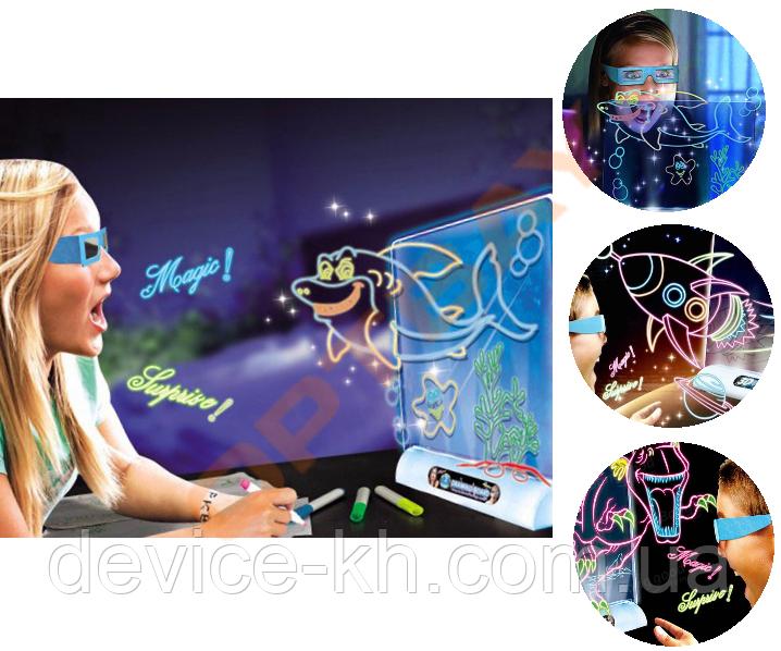 Магическая 3D Доска (планшет) для рисования Magic Drawing Board
