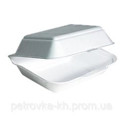 HP10 УПАКОВКА Ланч-бокс (средний- Без деления) 15шт, 240x155x70 белый (1ящ/250шт)