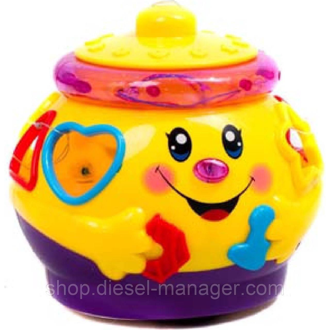 Обучающая игрушка Поющий горшочек Play Smart 0915 Желтый (tsi_42241)