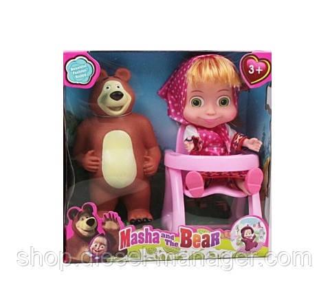 """Кукла """"Маша и Медведь"""" в коробке со стульчиком 19х19х9.5 см (006ytfj112)"""