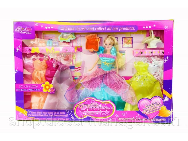 Кукла Charming Girl с нарядами в коробке 56х36х7 см (006sgh165)
