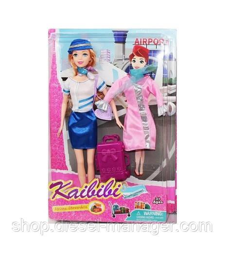 Кукла стюардесса в синем в коробке 29 см (006sd157)