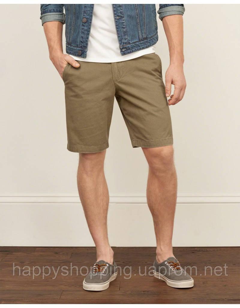Мужские хлопковые коричневые шорты Abercrombie & Fitch