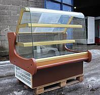 Кондитерская холодильная витрина JBG 1,4 м. (Польша), очень широкая выкладка 90 см. Б/у, фото 1