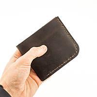 Кожаный кошелек из натуральной кожи коричневый ручной работы Revier для денег 136-01, фото 1