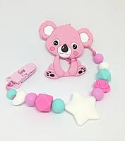 Силиконовый прорезыватель BabyMio Розовый Ментол (PROKP1)