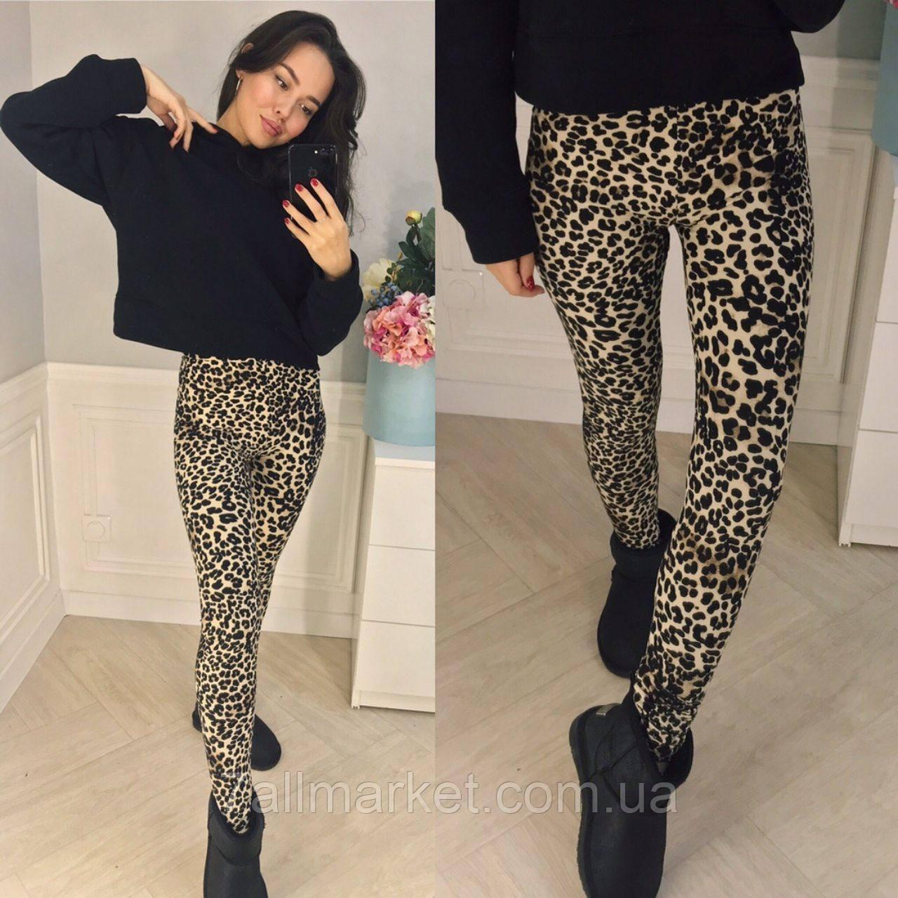 5e61925672805 Лосины женские леопардовые с напылением размеры 42-58