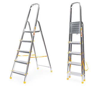 Лестница алюминий 5 ступений ALVE 282 см