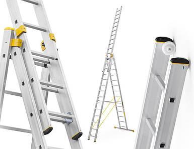 Лестница алюминий 3х14 ALVE 1034 см