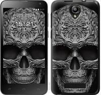"""Чехол на Fly IQ4514 skull-ornament """"4101c-222-328"""""""