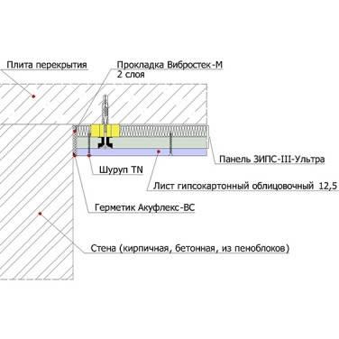 ЗИПС-III-Ультра. Звукоизоляционная бескаркасная облицовка (55 мм), фото 2
