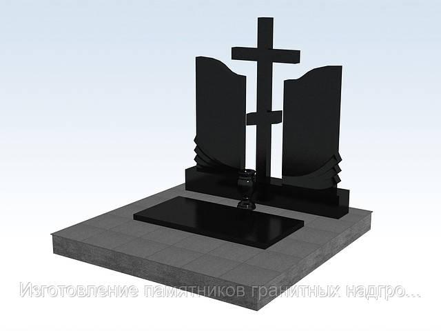 Памятник гранитный двойной с крестом (букинский гранит) изготовление памятников в симферополе
