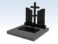 Памятник гранитный двойной с крестом (букинский гранит) изготовление памятников в симферополе, фото 1