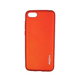 Чехол накладка для Huawei Honor 7A DUA-L22 силиконовый матовый, ROCK, красный