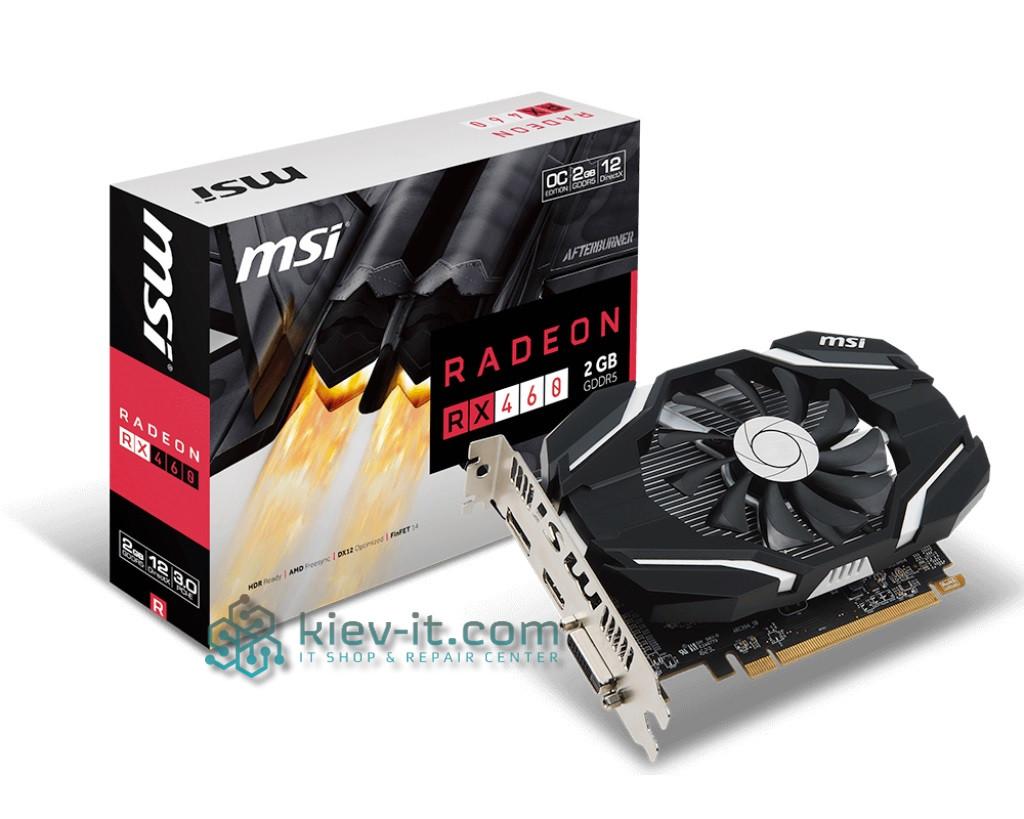"""Видеокарта MSI Radeon RX 460 2G OC GDDR5 128bit """"Over-Stock"""" Б/У"""