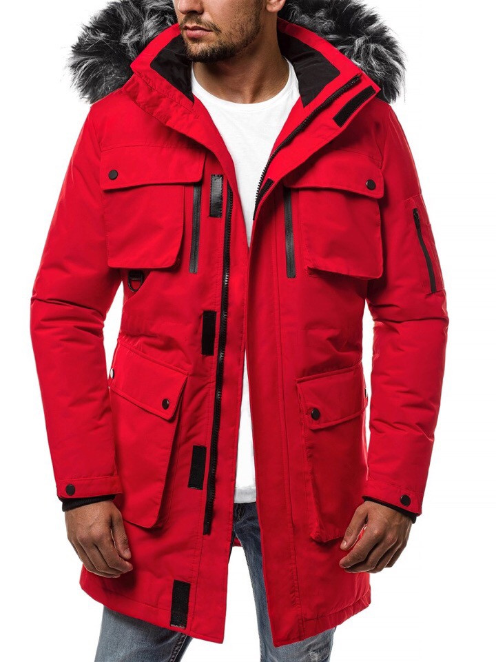 Куртка мужская зимняя.Парка мужская красная. Куртка чоловіча зимова.ТОП КАЧЕСТВО!!!