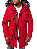 Куртка мужская зимняя.Парка мужская красная. Куртка чоловіча зимова.ТОП КАЧЕСТВО!!!, фото 1