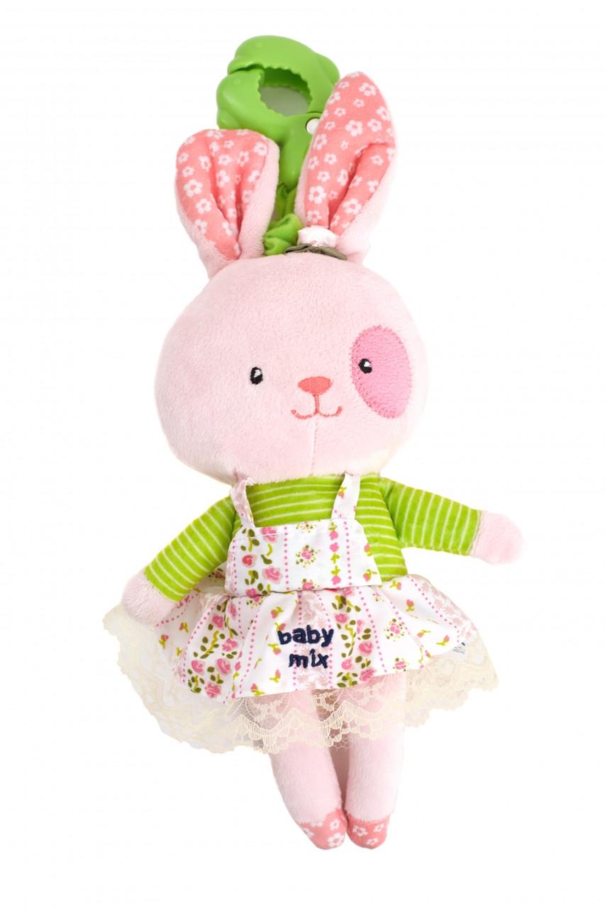 """Плюшевая игрушка Baby Mix """"Кролик девочка"""" Р/1206-DA00"""