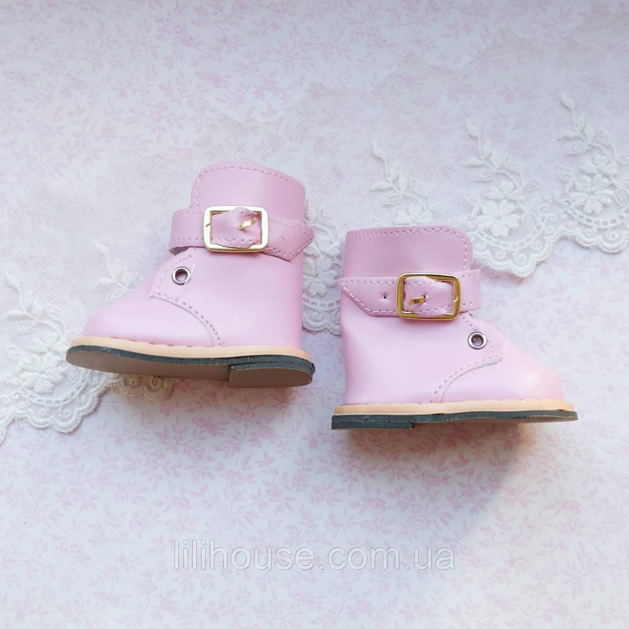 Обувь для кукол Сапожки на Застежке 7.5*4 см РОЗОВЫЕ