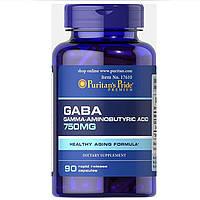 Гамма-Аминомасляная Кислота Puritan's Pride GABA (Gamma Aminobutyric Acid) 750 mg 90 capsules