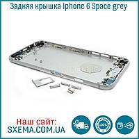 Задняя крышка корпуса iPhone 6 space grey