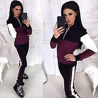 c215c66d Женский тёплый спортивный костюм трёхнитка на флисе воротник на молнии  42-44, 44-