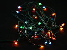 Электрогирлянда, 26 микроламп, многоцветная,  1,2 м., 1 реж.мигания, зел.провод., фото 2