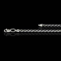 Серебряная цепочка, 500мм, 13 грамм, плетение Ручей, чернение, фото 2