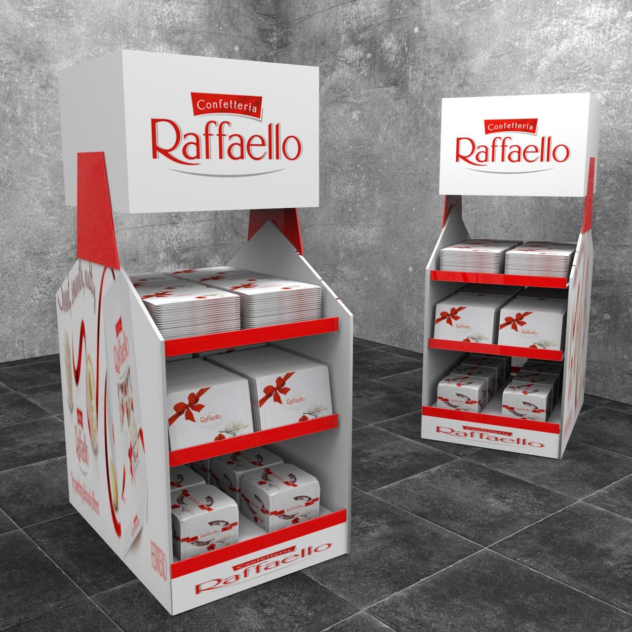 Торговая мебель под продукцию Raffaello