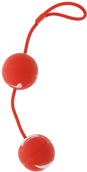 Вагинальные шарики Oscilating Duo Balls, красные