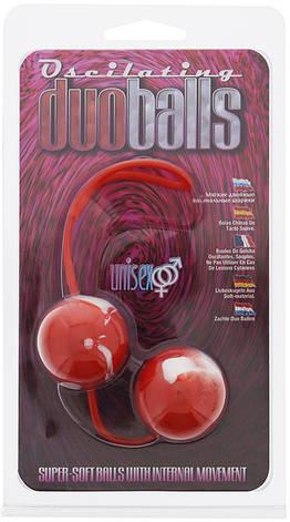 Вагинальные шарики Oscilating Duo Balls, красные, фото 2