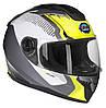 Шлем интеграл GEON 968 NEW Stealth бело-желтый