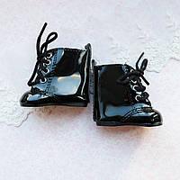Обувь для кукол Сапожки ЛАК 6.5*3.5 см ЧЕРНЫЕ