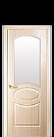 Межкомнатные двери Новый стиль Овал со стеклом сатин ясень