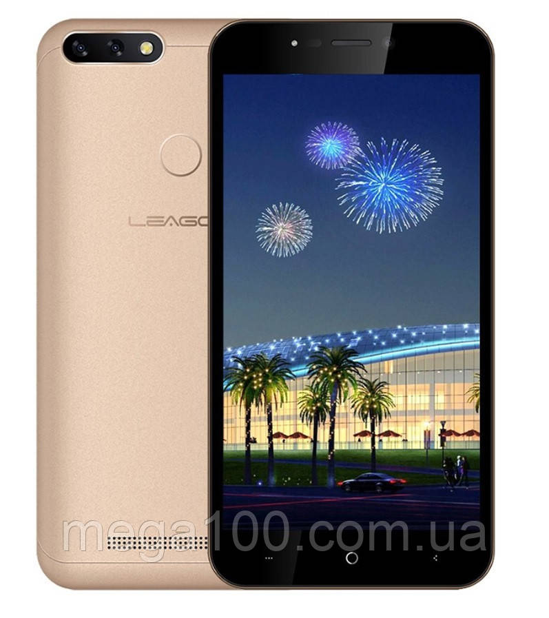 "Смартфон LEAGOO Power 2 золотой цвет (""5, памяти 2/16, батарея 3200 мАч)"