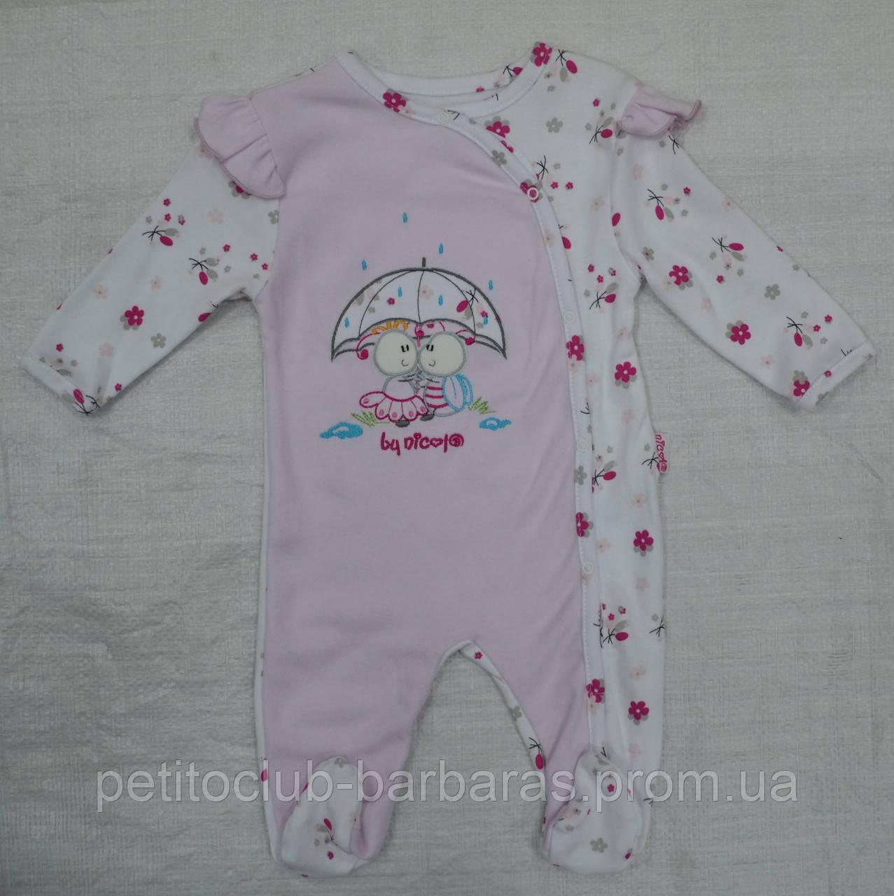 Комбинезон хлопковый Маленькая принцесса розовый (Польша)