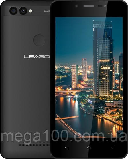 "Смартфон LEAGOO Power 2 черный цвет (""5, памяти 2/16, батарея 3200 мАч)"
