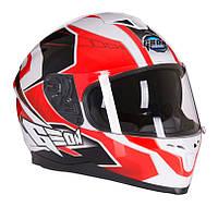 Шлем интеграл с очками GEON 967 Boxter черно-белый, фото 1