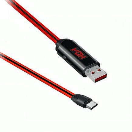 Кабель Hoco U29 micro USB с дисплеем и таймером 1.0 м