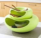 Пластиковая миска для семечек, орехов и снеков (зеленый), фото 2