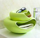 Пластиковая миска для семечек, орехов и снеков (зеленый), фото 3