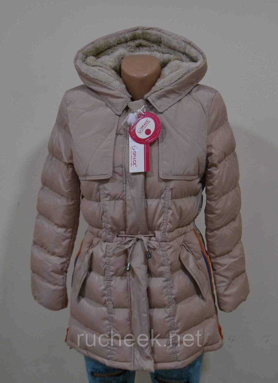 Куртка для девочки на флисе 10- 12 лет, ТМ Grace G50681, Венгрия