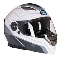 Шлем модуляр с очками GEON 950 TOUR серо-белый, фото 1