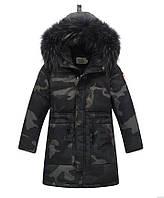 Куртка натуральный пуховик для мальчика подростка