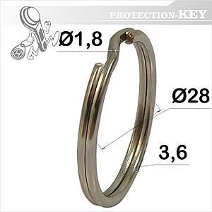 Кольцо заводное Ø28 * 1,8 мм ( круглое)