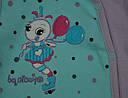 Комбинезон хлопковый Гусеничка голуб/фиолет (Nicol, Польша), фото 3