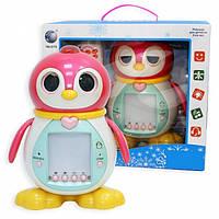 Дитяча інтерактивна іграшка пінгвіненя Тіша / Интерактивный пингвин Тиша, детская обучающая игрушка с пультом, фото 1