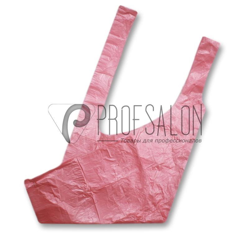 Фартук для парикмахерских работ 1х1,5м, полиэтилен, 100 шт, розовые
